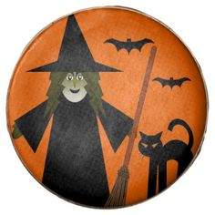 Halloween Witch & Black Cat Chocolate dipped Oreo