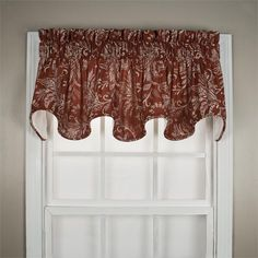 Floating Leaves valance in red color : top treatment