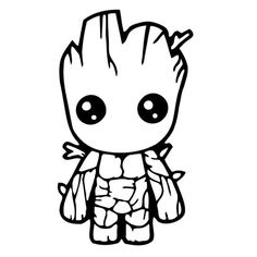 Baby Groot Coloring Page . 20 Unique Baby Groot Coloring Page . Baby Groot Drawing at Getdrawings Avengers Coloring Pages, Marvel Coloring, Superhero Coloring Pages, Art Vinyl, Vinyl Decals, Decals For Cars, Wall Stickers, Bumper Stickers, Wall Decals