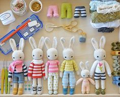 The complete Angie bunny kit and a notebook set