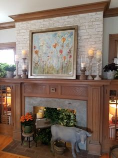 Bachman's Spring Ideas House 2017 - living room mantle