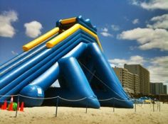 "The ""Hippo"" is the world's largest inflatable water slide."