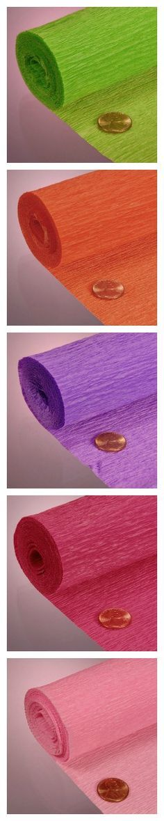 Crepe Paper - Great for crafts, DIY projects, party decorations, and much more. Get creative with it! #crepepaper