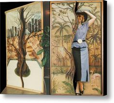 Leather Carved Sliding Door Canvas Print / Canvas Art By Nadine May
