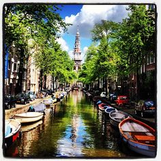 One of so many beautiful canals in Amsterdam