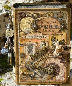 Steampunk 'Timekeeper' Altered Book Box- Flying Unicorn Creative Team created by Rebecca Morris