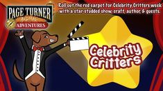 When you sign up for our Summer Reading with Beanstack, you get exclusive content from Page Turner Animal Adventures! This week is Celebrity Critters week! Library Events, County Library, Comedy Show, Page Turner, Special Guest, Author, Hero, Puppies, Adventure