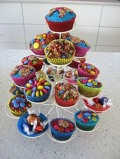 Cupcake tree birthday cake, via Flickr.