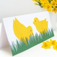 This bright, bold Easter chicks card, featuring a pair of fluffy chicks in the spring grass, is just one of our easy Easter cardcraft designs. Homemade Face Masks, Homemade Gifts, Homemade Cards, Easter Wishes, Easter Card, Diy Ostern, Easter Crafts For Kids, Happy Easter, Easy Crafts