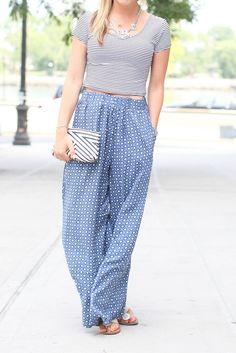 Crop top and palazzo pants  #TargetStyle #TargetsGoneGlam