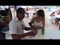 "▶ Best Bake & Shark in Trinidad - Eat ""Jaws"" at Richard's Shark & Bake, Maracas Beach - YouTube"