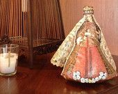 Fabric doll, religious, Representation of religious icon old style fabric , Virgin Mary,soft doll, Jesus, christian, rag doll