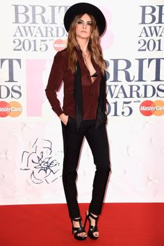 See the best dressed celebrities at the 2015 Brit Awards: Cara Delevingne
