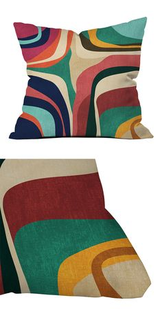 Add some psychedelic character to your favorite modern sofa or accent chair with this thoroughly groovy throw pillow. Decorated with stunning, multicolored patterning, this In the Groove Throw Pillow w...  Find the In the Groove Throw Pillow, as seen in the Mad for Mod Collection at http://dotandbo.com/collections/mad-for-mod?utm_source=pinterest&utm_medium=organic&db_sku=114865