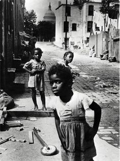 A stunning study in contrasts: Washington DC, 1946. Poverty in view of the Capitol Posted on Facebook by Larry Rogak Vintage African American Photography
