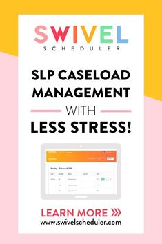 SLPs, it's time to stop feeling overwhelmed with goal management and data. This scheduling tool will make planning your sessions quick