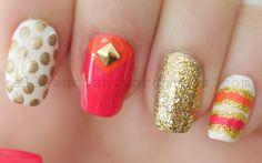 Kate Spade Inspired Nails