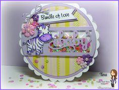 Cricut baby shower zebra shaker card The Scrappin Rabbit