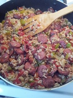 If you like Jambalaya then this is the recipe for you! very flavorful and full of spice! Feel free to adjust seasonings to your family's liking! Everyone in my house liked this and I wasn't 100% sure if my boys would eat it or not! they did! Recipe is adapted from Honeybeehomemaker.com   Ingredients- 1, Read More ...