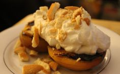 Grilled Peaches with Fireball Whiskey Whipped Cream | The Renaissance Beard