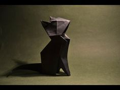 Origami - Cat - YouTube