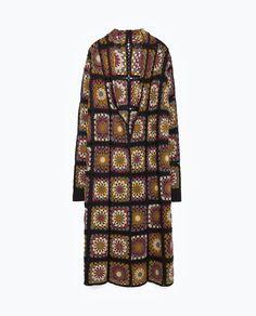 Image 11 of CROCHET PATCHWORK COAT from Zara