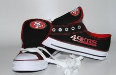 Woman's Swagger Team San Francisco 49er's Shoes Red and Black / Bargain Kings
