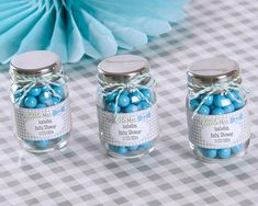 Personalized Mason Jars - Boy Birthday Party Favors - Mini Mason Jars - Baby Shower - My Little Man, Mustache, Bow Tie, Candy Jar Favor Baby Shower Party Favors, Baby Shower Centerpieces, Baby Shower Parties, Baby Shower Themes, Baby Shower Gifts, Baby Showers, Baby Shower Souvenirs, Baby Favors, Bridal Showers