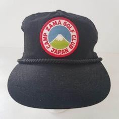 Camp Zama Golf Club Course Japan Patch Trucker Hat Ball Cap Snapback Black #zama #BaseballCap #capzamagolfclub #golfclub #japan Golf Websites, Hats For Sale, Baseball Cap, Golf Clubs, Snapback, Patches, Camping, Japan, Best Deals