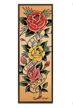 Life Love Luck by Ed Hardy