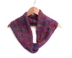 Recycled colourful 100% silk cowl £28.00