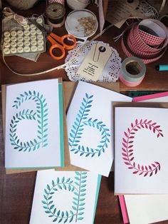 Paper cut letter cards - seen on Paper Crave