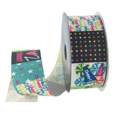 "the Ribbon Boutique 1 1/2"" Luv 2 Cheer Grosgrain Ribbon 