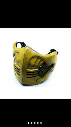 Steampunk Mask, Full Face Mask, Character Costumes, Mortal Kombat, Scorpion, Samurai, Helmet, Characters, Cosplay