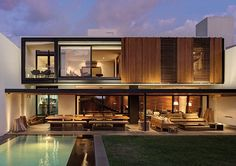 Featuring architecture, architectural designs, and modern house designs from around the globe. Villa Design, Modern House Design, Residential Architecture, Contemporary Architecture, Interior Architecture, Modern Exterior, Exterior Design, Future House, Casas Containers
