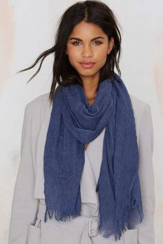 Sheer the Course Fringe Scarf - Scarves + Gloves | Accessories