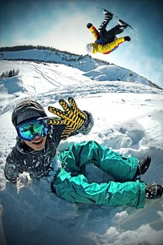 Having fun is what it's all about.  #snowboarding