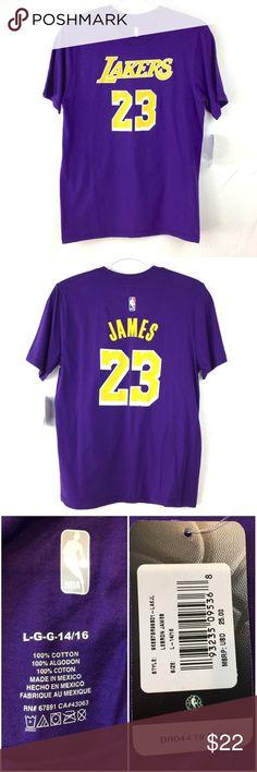 Youth NWT NBA LeBron James Lakers T-Shirt Jersey Youth NWT NBA LeBron James  Lakers 31983b36c