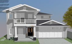 A large family home with an abundance of living area and bedrooms. The downstairs living area craftily ties in with the alfresco making it. Living Environment, Breezeway, Build Your Dream Home, Brisbane, Abundance, Custom Homes, Living Area, Facade, Home And Family