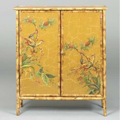 A commode from the set of japanned furniture designed by Thomas
