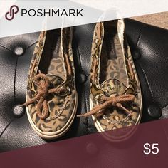 Girls Sperry's Leopard print Sperry's. In good used condition. Sperry Top-Sider Shoes Sneakers