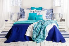 Bedroom in blue shades by Zara Home