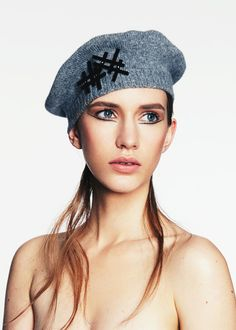 Cashmere Beret | Label: Keely Hunter Millinery | Autumn/Winter 2014, Thermal Bridge Collection | Bridging her signature style with winter textures, Hunter mixes clean design with structural knits and fabrics to create a collection defined by its strong sense of warmth and protection