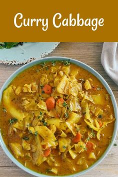 This quick and easy Curry Cabbage aka Cabbage Curry will be a sure hit! It is not only healthy but astonishingly full of flavor and easy to prepare. - April 13 2019 at Jamaican Recipes, Curry Recipes, Vegetable Recipes, Soup Recipes, Vegetarian Recipes, Dinner Recipes, Healthy Recipes, Vegan Cabbage Recipes, Baby Cabbage Recipe
