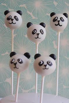 animals - panda cake pops