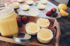 Mini Lemon cheesecakes topped with lemon curd!