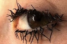 Spotted via Bit Rebels, these look like thick, heavily mascara-ed and somewhat knotted eyelashes… but really are the clumpy legs of dead flies. You can thank artist Jessica Harrison for the flighty nightmare.