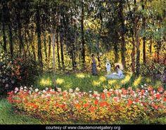 The Artists Family In The Garden - Claude Oscar Monet - www.claudemonetgallery.org