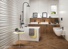 3D Wall Design by Atlas Concorde: three-dimensional ceramic surfaces