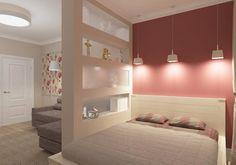 elegant studio apartment ideas stylish bedroom area partition wall pendant lights